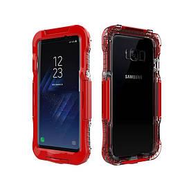 Чохол накладка для Samsung Galaxy S8 Plus G955 пластик і силікон водонепроникний, червоний