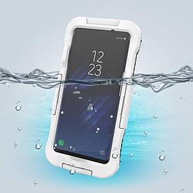 Чохол накладка для Samsung Galaxy S8 Plus G955 пластик і силікон водонепроникний, білий