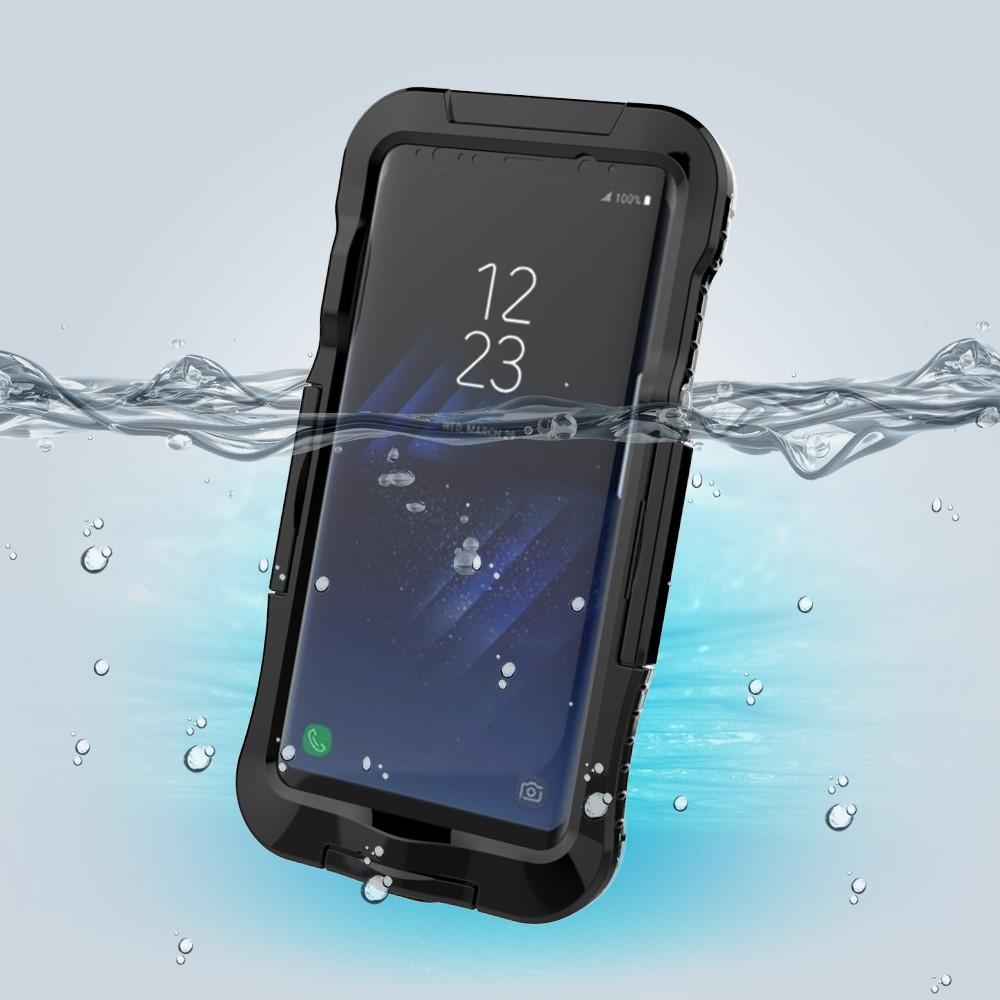 Чехол накладка для Samsung Galaxy S8 Plus G955 пластик и силикон водонепроницаемый, черный