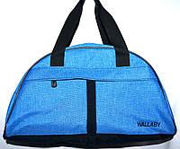 Стильная дорожно-повседневная сумка-саквояж Wallaby 44*24 см ярко-синяя, фото 1