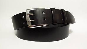 Джинсовий  ремінь  з натуральної шкіри 45 мм, чорний двопальчиковий