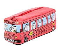 """Пенал """"Автобус"""", красный"""