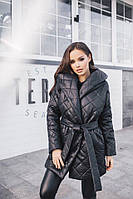 Куртка Материал стёганная плащевка синтепон плотностью 200 Цвета чёрный, красный, хаки,пудра дмон №11044