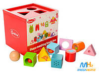 Деревянная развивающая игрушка куб Сортер MD 1077 Wooden Toys
