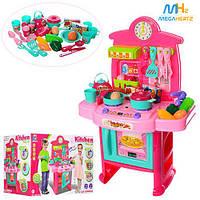 Детская игровая кухня 3830-202 плита посуда продукты звук свет