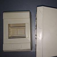 Пластиковый щиток навесной WK-3/4для 4 модульных автоматических выключателей без крышки
