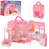 Мебель для куклы спальня с ванной комнатой