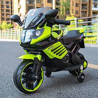 Детский мотоцикл на аккумуляторе BMW 703 GREEN электромотоцикл, зелёный, дитячий мотоцикл на акумуляторі