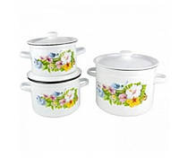 Набор посуды НМ №822, 3 предмета - Колибри