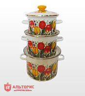 Набор посуды НМ №5, 3 предмета - Весенний букет