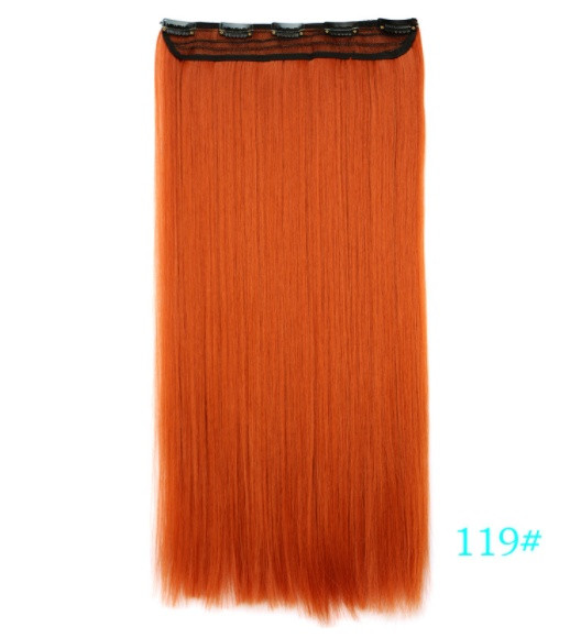 Накладные волосы  на клипсах,трессы 60 см цвет рыжий