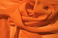 Ткань Шифон однотонный Ярко Оранжевый