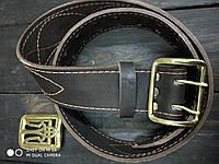 Ремень офицерский с латунной пряжкой