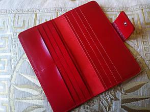 Кошелек красный без монетницы (холдер), фото 2