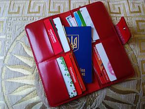 Кошелек красный без монетницы (холдер), фото 3