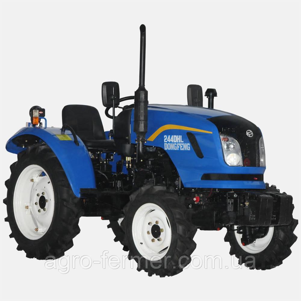 Трактор, Минитрактор DONGFENG 244 DHХ (24 л.с., 4х4, 3-цил. диз. двигатель, увеличены колеса)