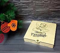 Праздничный набор деревянных новогодних игрушек