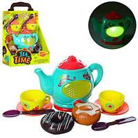 Детская посуда чайный сервиз, звук, свет, в коробке