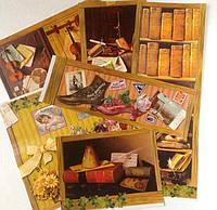 Фрагменты декупажной карты «Ретро библиотека»_2, фото 1