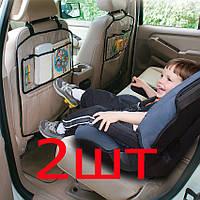 2шт Защитный чехол органайзер на спинку сиденья в авто с карманами