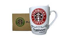 Чашка керамическая кружка Starbucks набор с ложкой R82530 Red, фото 1
