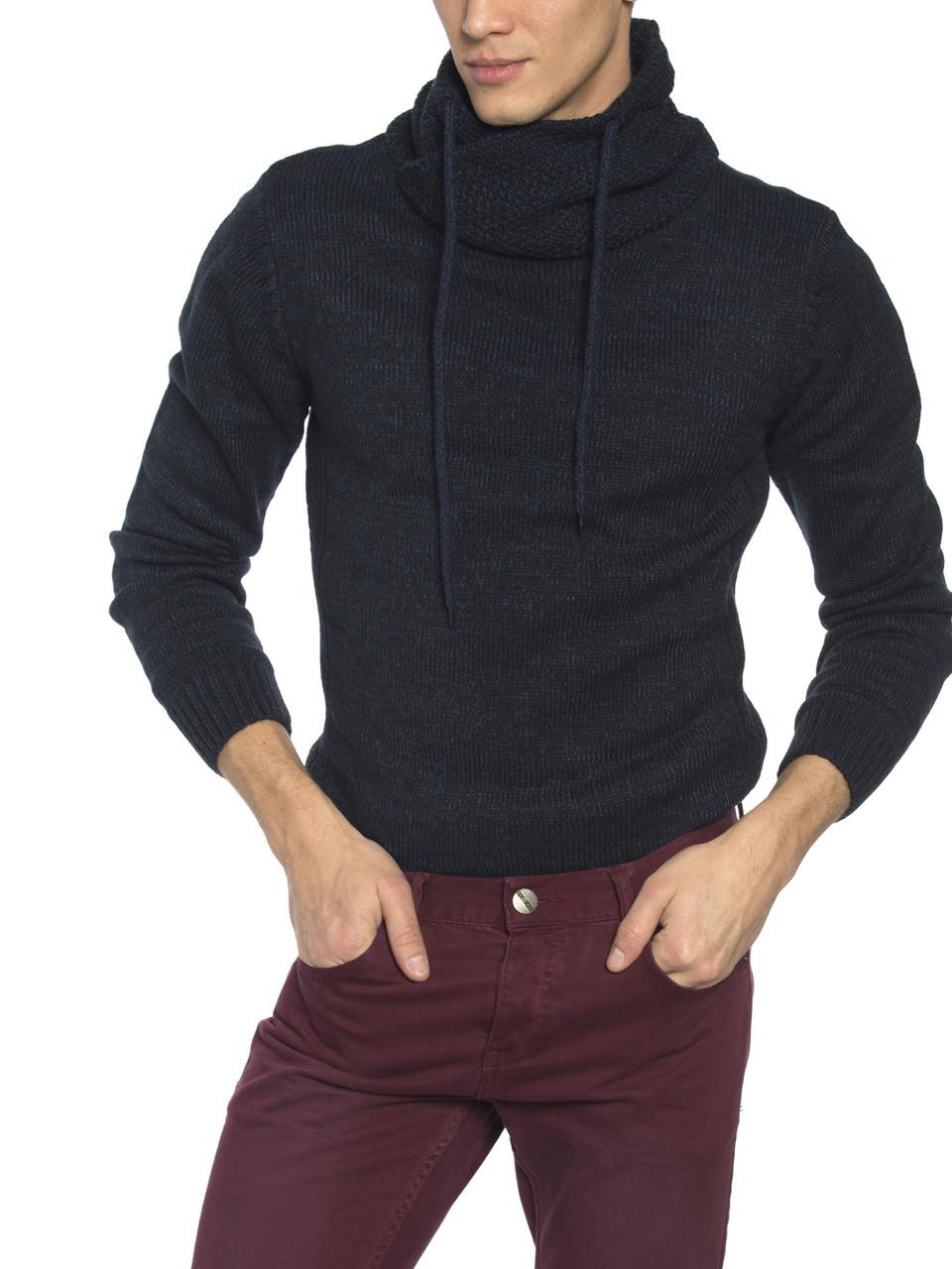 Мужской свитер LC Waikiki/ЛС Вайкики темно-синего цвета с воротником хомут