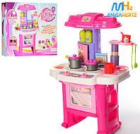 Детская игровая кухня Limo Toy 16641G плита посуда продукты звук свет