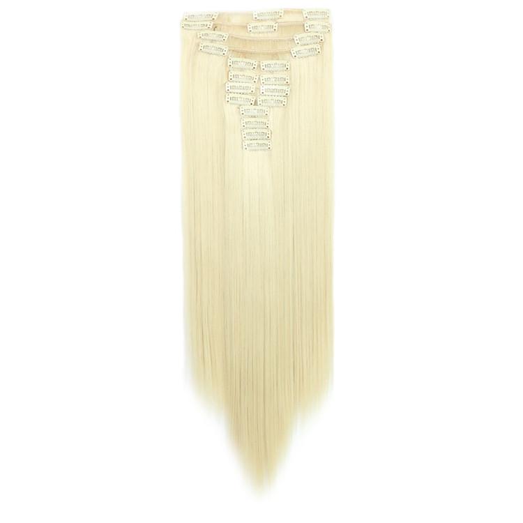 Искусственные волосы на заколках. Цвет #613 Блонд. Набор прядей, фото 1