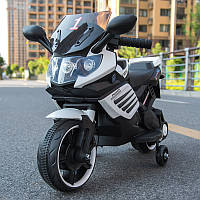 Детский мотоцикл на аккумуляторе BMW 703 WHITE электромотоцикл, зелёный, дитячий мотоцикл на акумуляторі