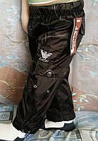 Дитячі утеплені штани плащівка Орел для хлопчика 1 рік