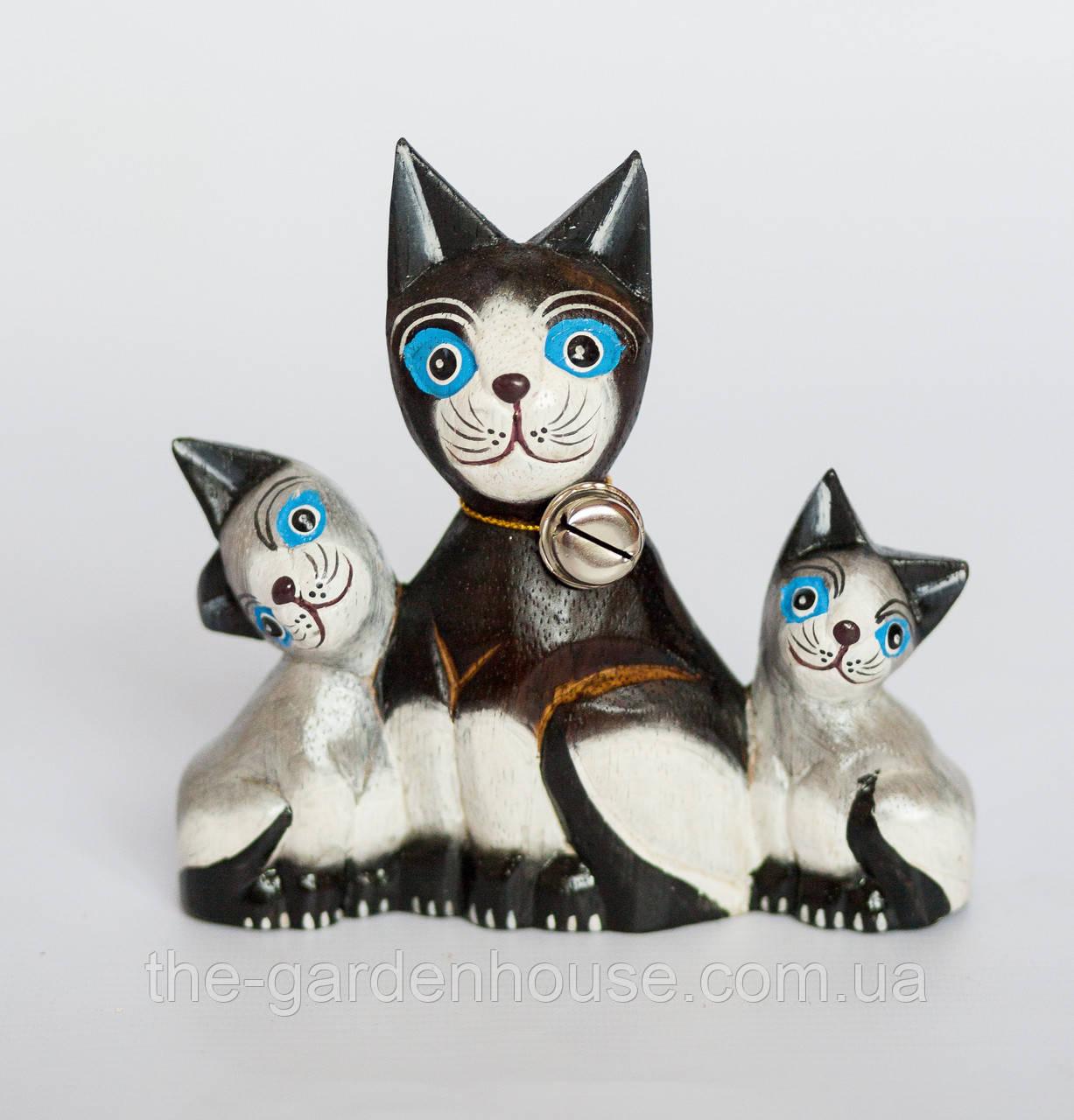 """Статуэтка """"Кошка с котятами"""", 15 см"""
