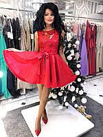 Платье нарядное Юбка фасона каскад. Тканевый пояс Ткань: жаккард, кружево с паетками много цветов дпог№188-21
