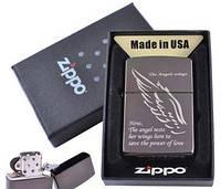 Зажигалка бензиновая Zippo в подарочной упаковке The Angels Wings