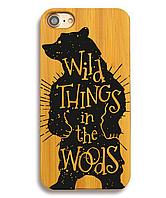 Деревянный чехол на Iphone 6/6s  с лазерной гравировкой WildBaer
