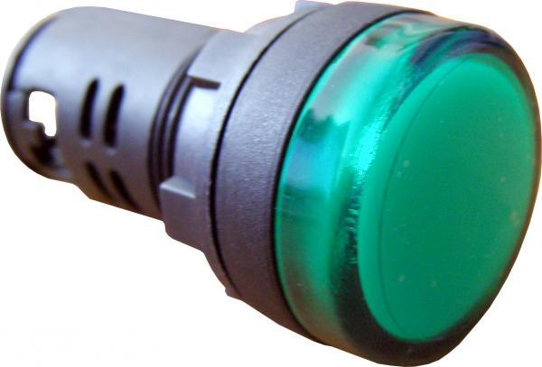 Арматура светосигнальная АСКО-УКРЕМ AD22-22DS 24V АC-DC зеленая