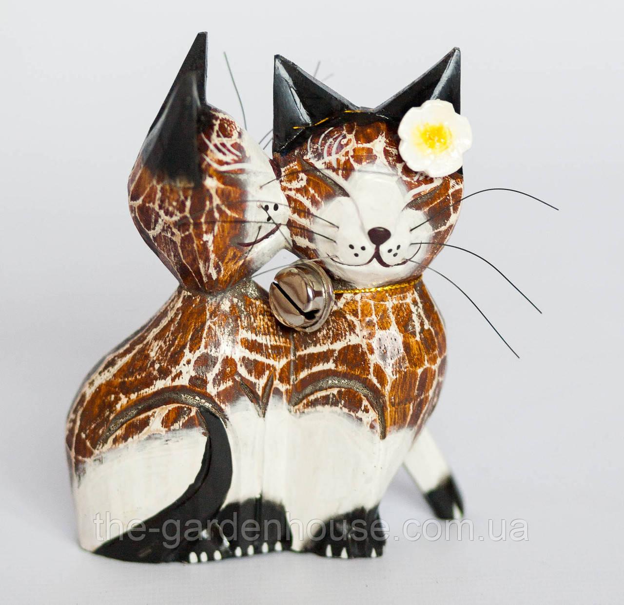 """Статуэтка """"Целующиеся котики"""" 15 см, светло-коричневый"""