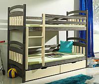 Двухъярусная кровать трансформер деревянная Бемби из натурального Бука, фото 1