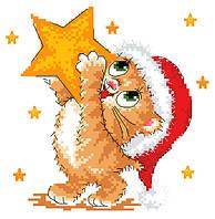 """Набор для вышивки  крестиком детский """"Рождественская звезда"""""""