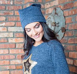 Молодежная женская шапка