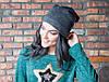 Молодежная женская шапка, фото 6