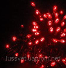 Уличная гирлянда-нить HOLIDAY STRING 100led 10m красная (черн. кабель)