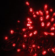 Уличная гирлянда-нить HOLIDAY STRING 100led 10m красная (черн. кабель), фото 1