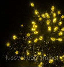 Гірлянда вулична нитка HOLIDAY STRING 100led 10m жовта (черн. кабель)