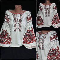 Роскошная вышитая блузка на натуральном льне, 42-54 р-ры, 950/850 (цена за 1 шт.+ 100 гр.)