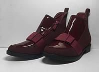 Демисезонные бордовые ботинки 33 размер