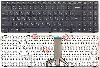 Клавиатура для ноутбуков Lenovo IdeaPad 100-15IBD Series черная с черной рамкой  UA/RU/US