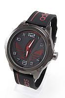 Мужские спортивные наручные часы Adidas черные+красные