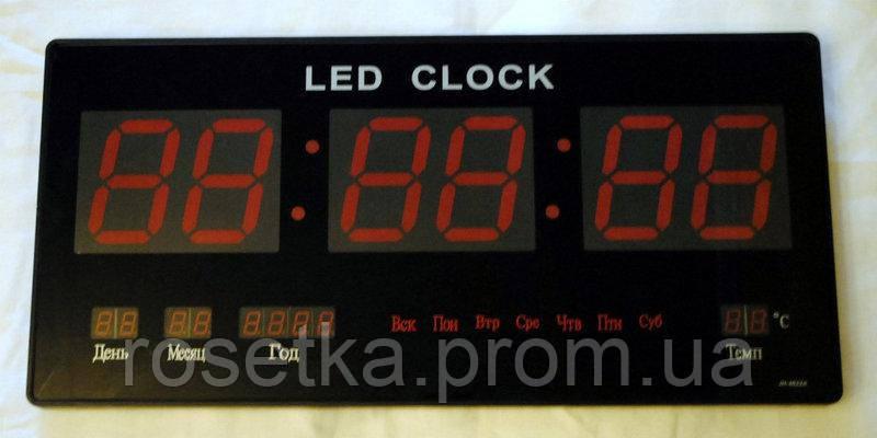 Электронные часы LED Digital Clock JH 4622-4 RED, настенные сетевые, фото 1