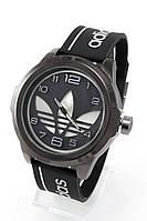 Мужские спортивные наручные часы Adidas черные+белые (Копия)