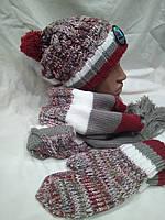 Комплект FONEM 3065  (шапка, шарф и рукавицы)